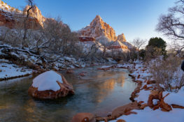 Zion National Park in the Snow