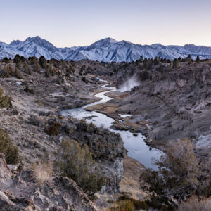 Brees Lookout at Hot Creek in Mammoth Lakes, CA