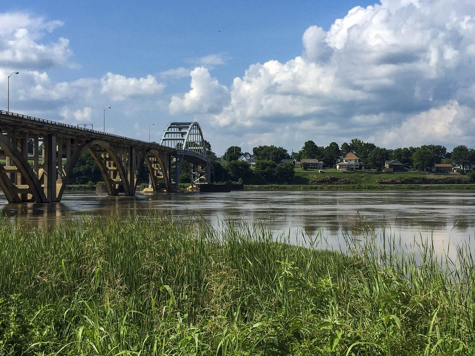 Arkansas River in Ozark, Arkansas