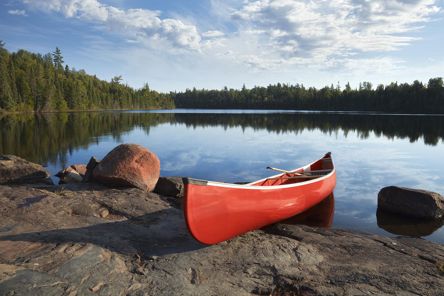 Canoe on Boundary Waters of Minnesota