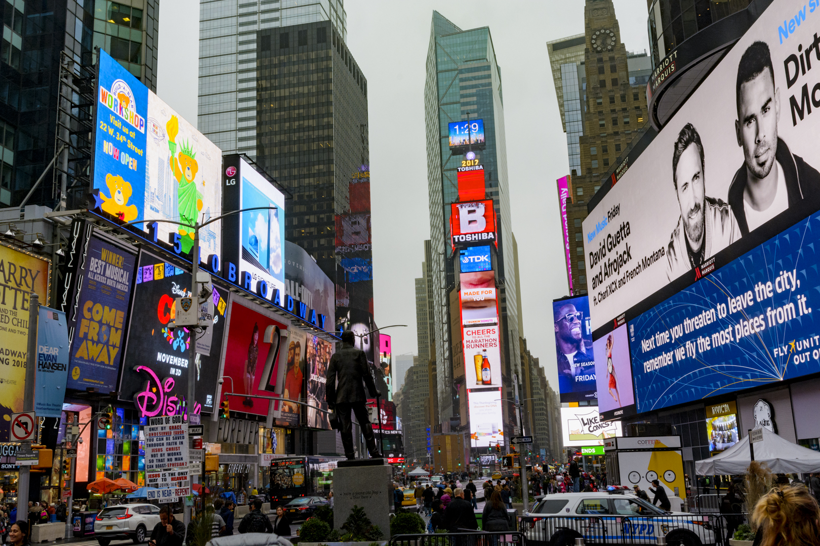 Times Square in Manhattan, NY