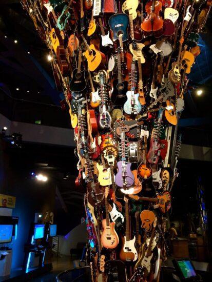 Guitar Tornado Sculpture