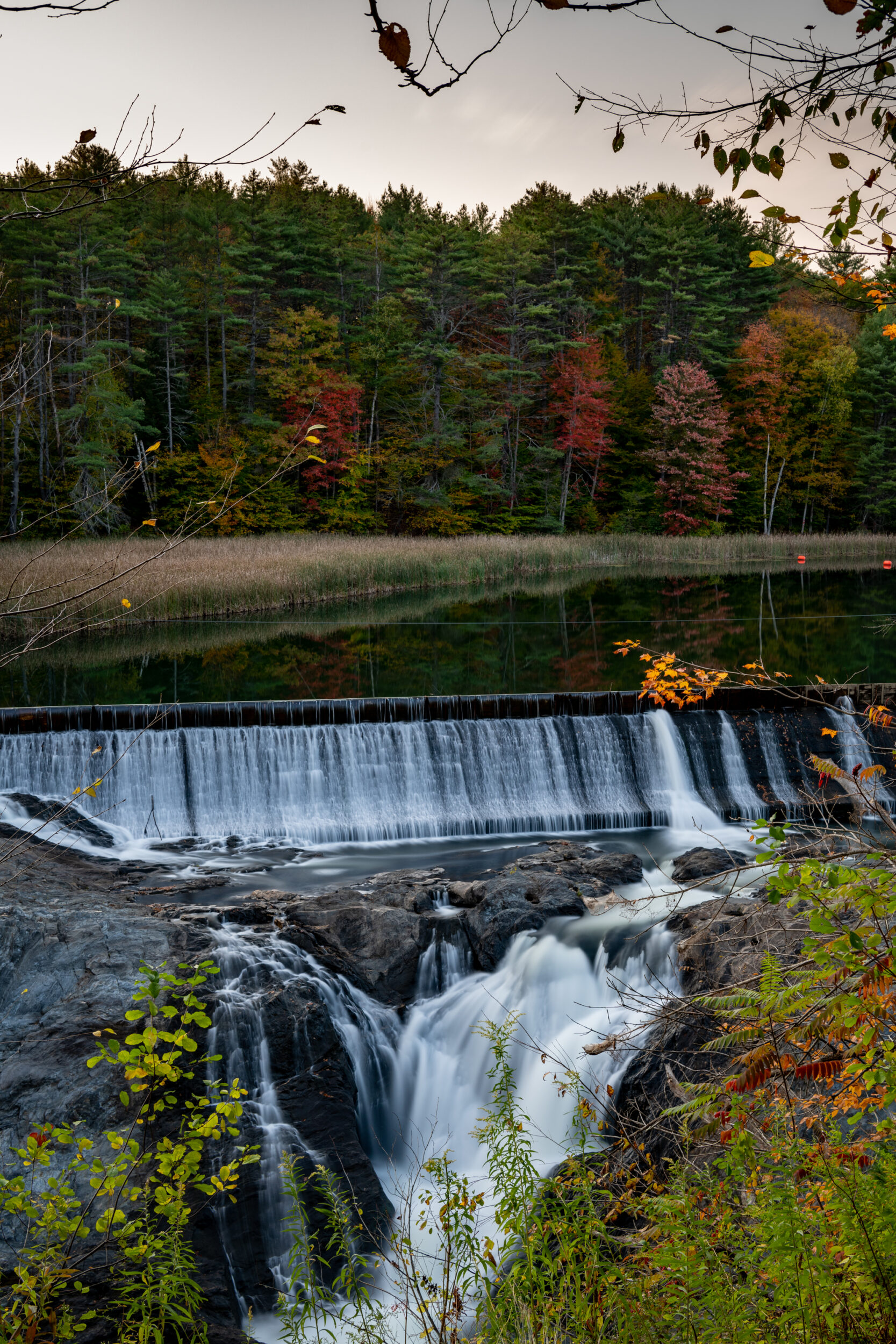 Quechee River Dam in Quechee, Vermont