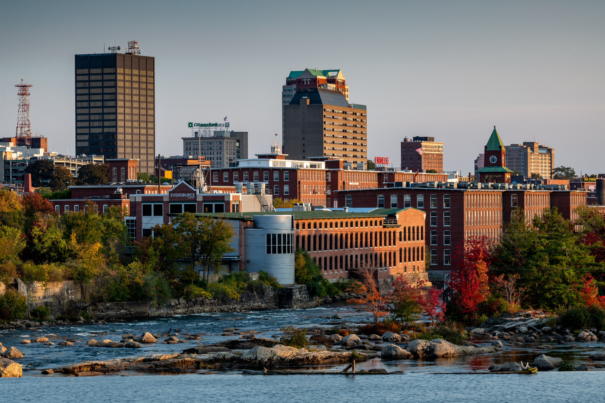 The skyline of Manchester, New Hampshire
