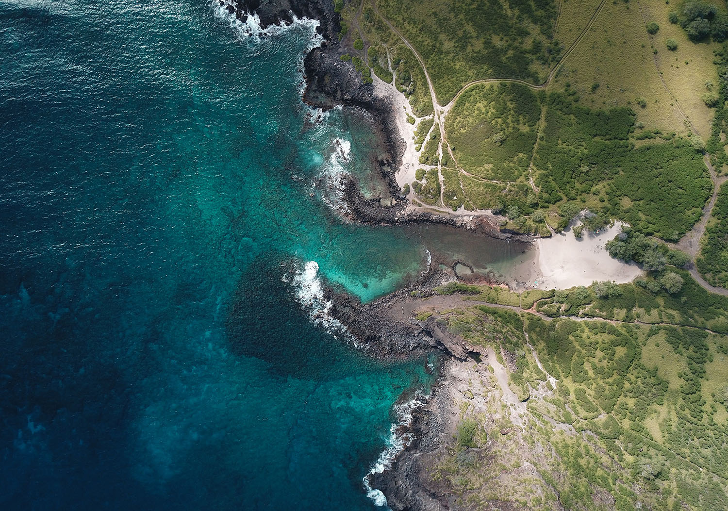 Pele's Chair, Hawaii from a drone