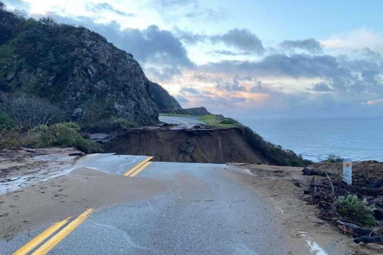 Highway 1 Slip Out near Big Sur, California