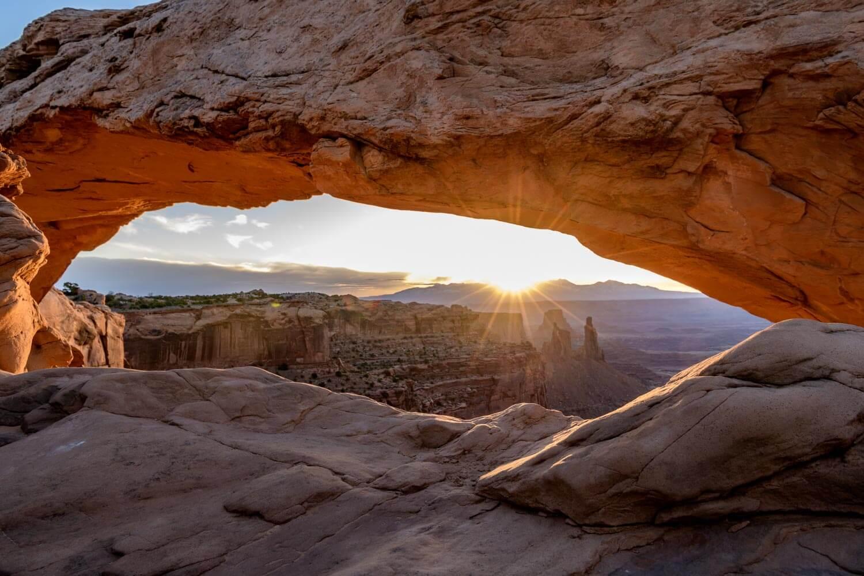 Mesa Arch at sunrise at Canyonlands National Park