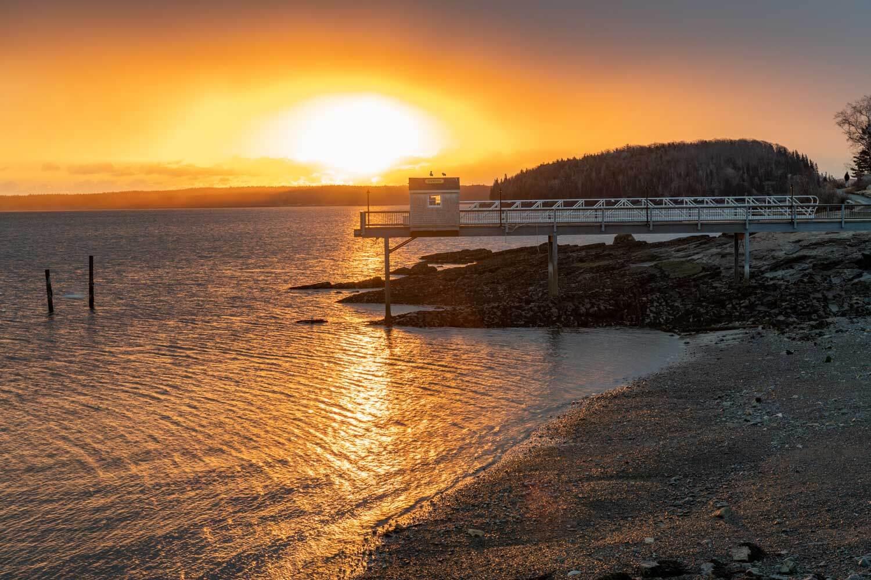 Sunrise in Bar Harbor, Maine