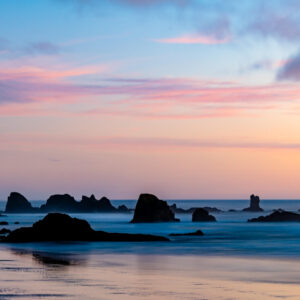 Rocks off the coast of Indian Beach at Ecola State Park in Clatsop County, Oregon on October 4, 2020. Photo by Peter Stringer