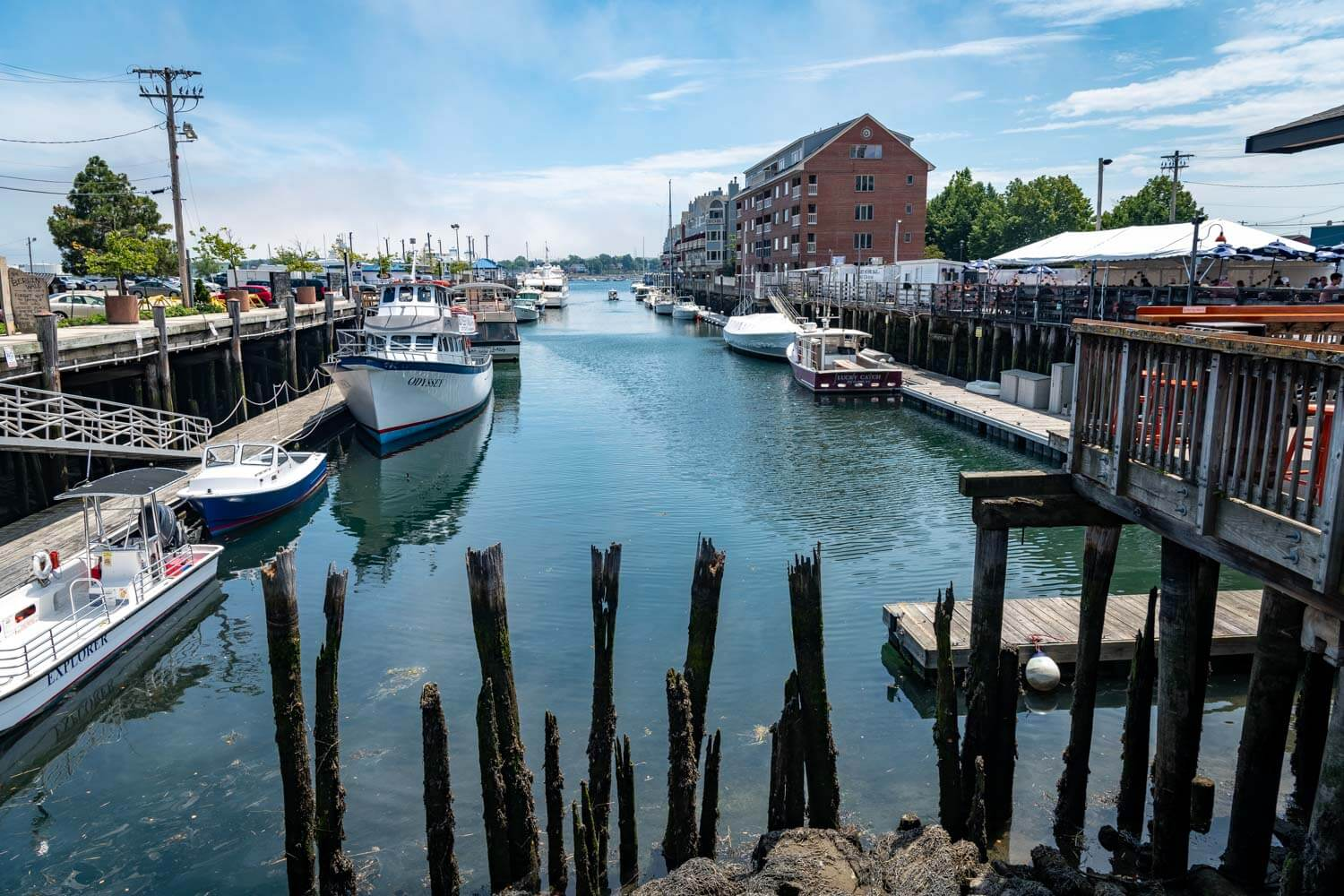 Docks on Commercial Street in Downtown Portland, Maine