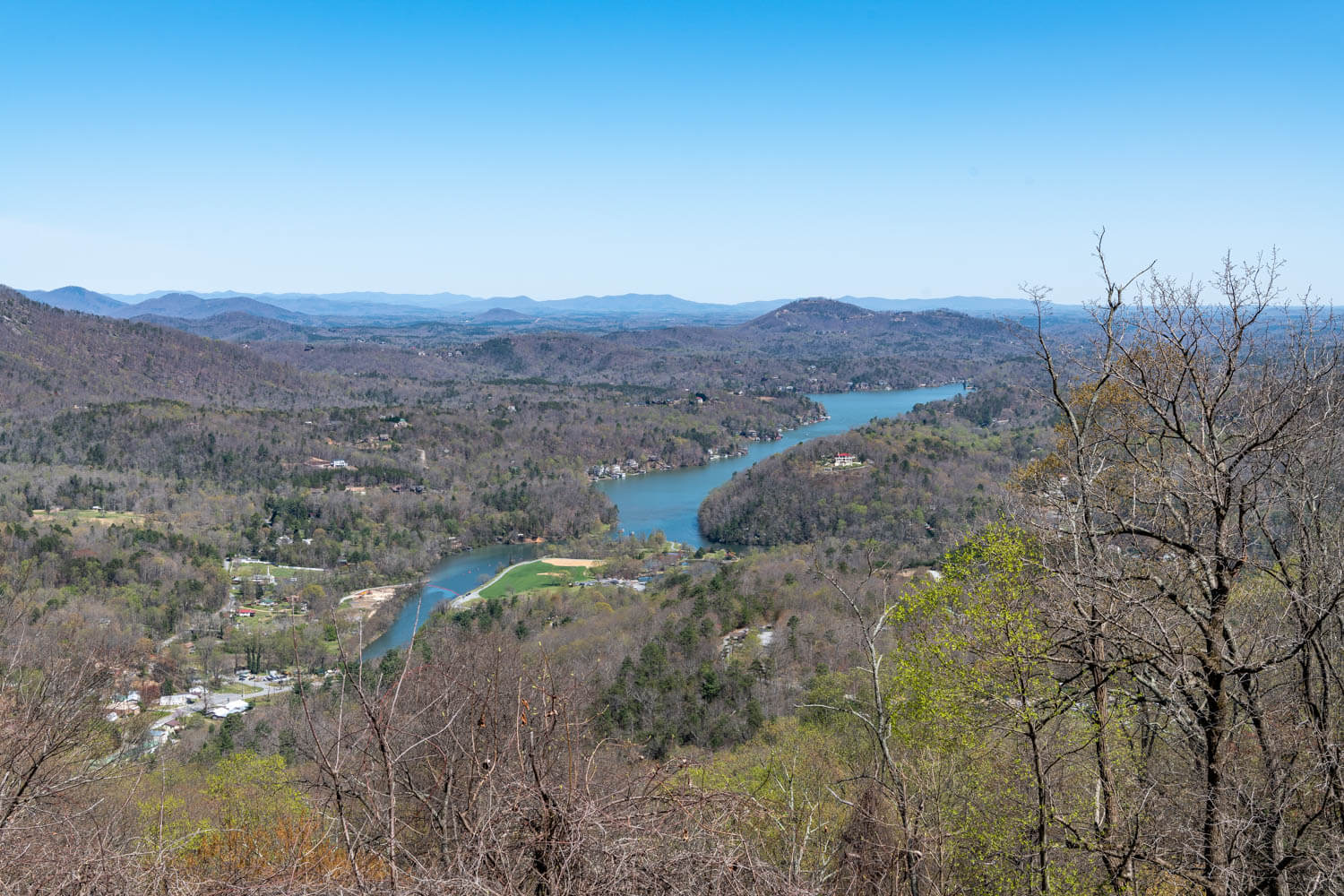 View from Chimney Rock State Park
