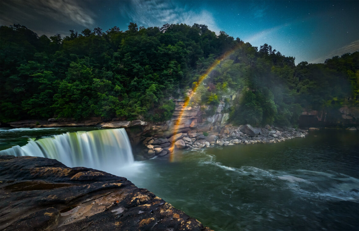 The Moonbow at Cumberland Falls State Resort Park in Kentucky.