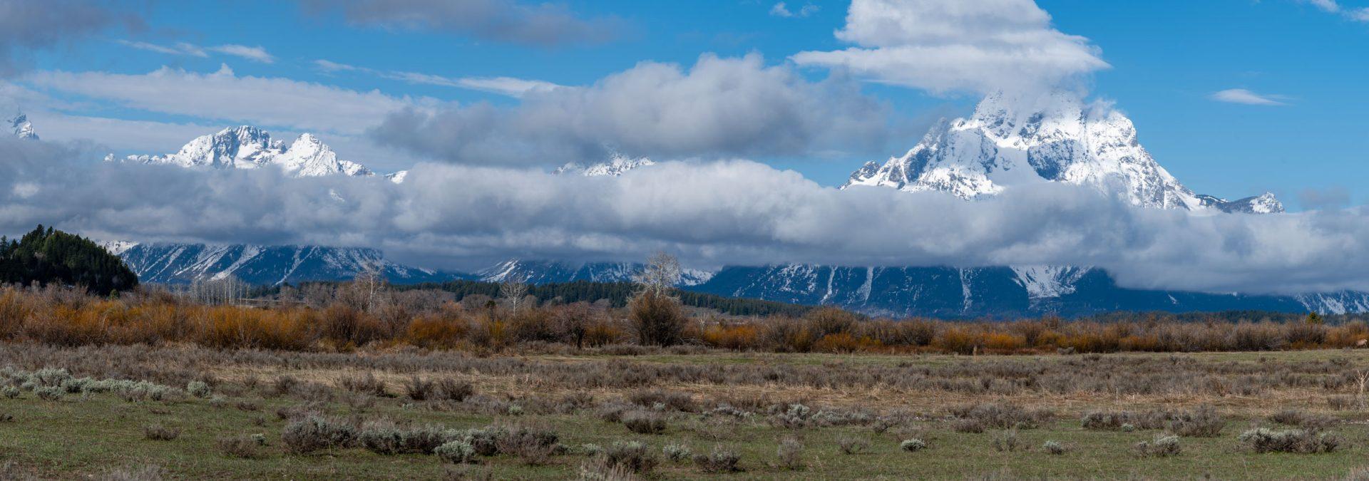 Panoramic view of Grand Teton National Park